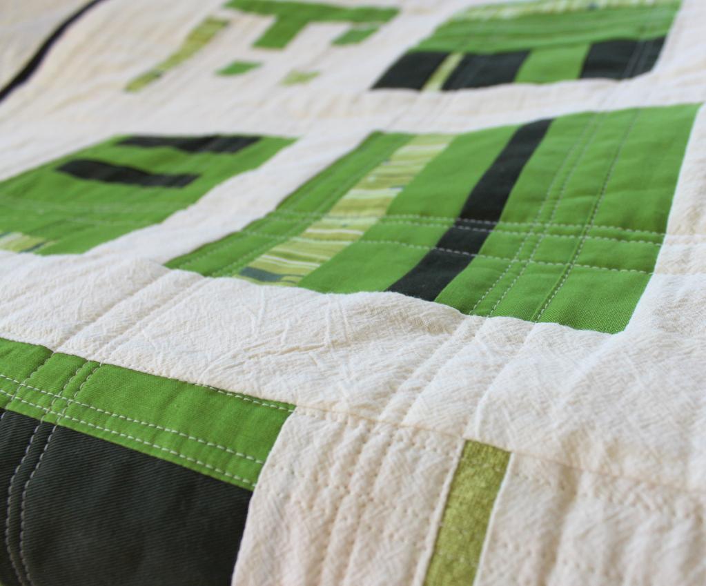 Green Basketweave Quilt