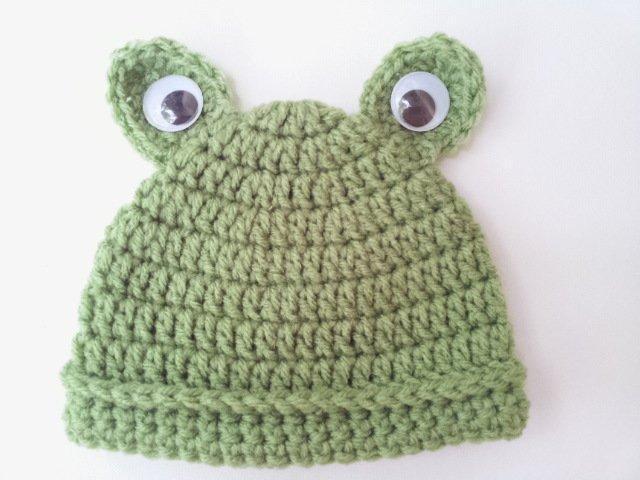 Easy Baby Frog FREE Crochet Hat Pattern