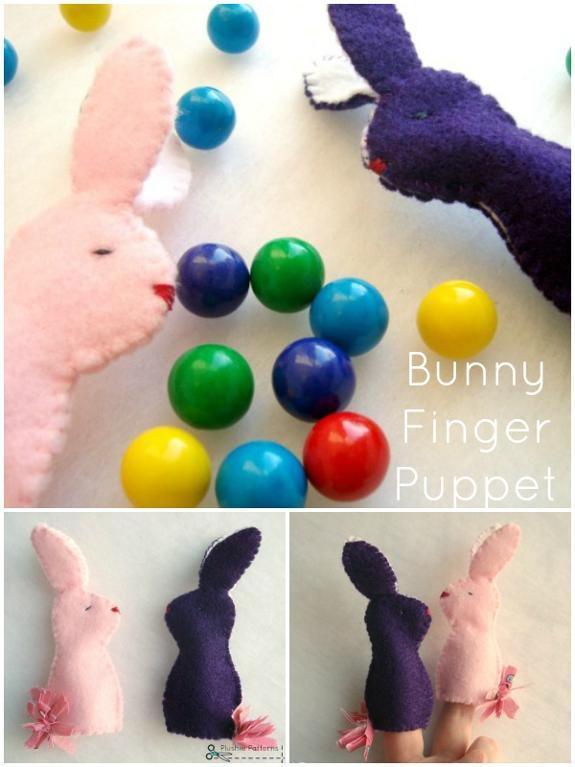 Kids will love playing with these bunny finger puppets at Easter.