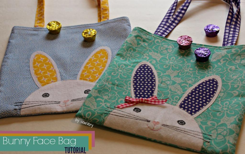 Sew a Bunny Face Bag to carry Easter treats or books!