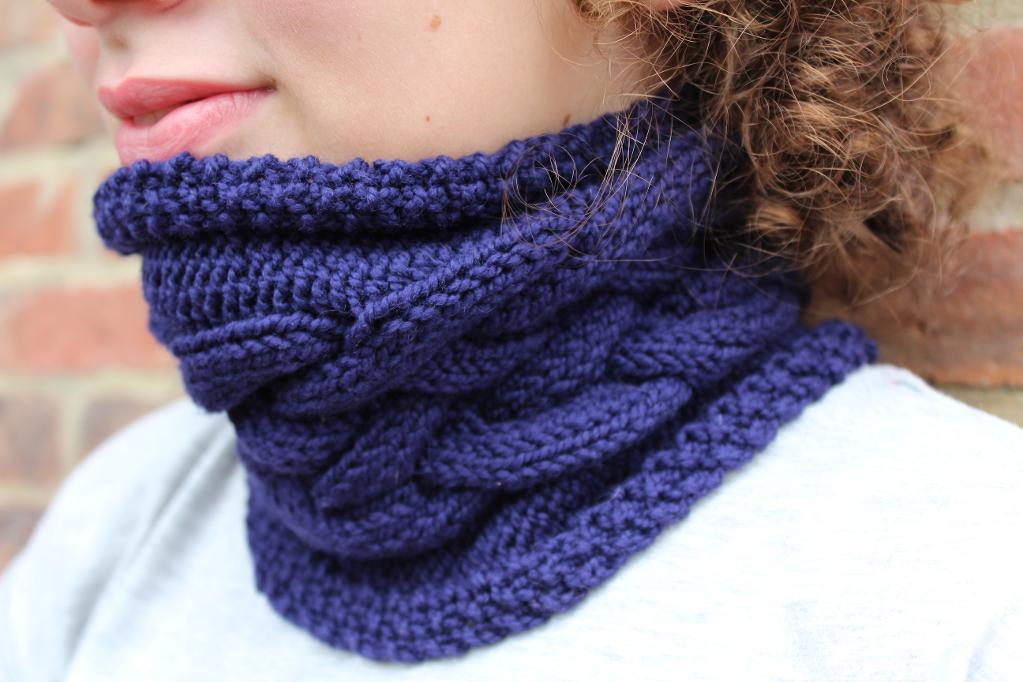 Double Dutch Cabled Cowl FREE Knitting Pattern