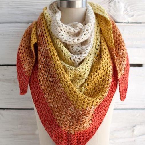 Crochet Augusta Shawl