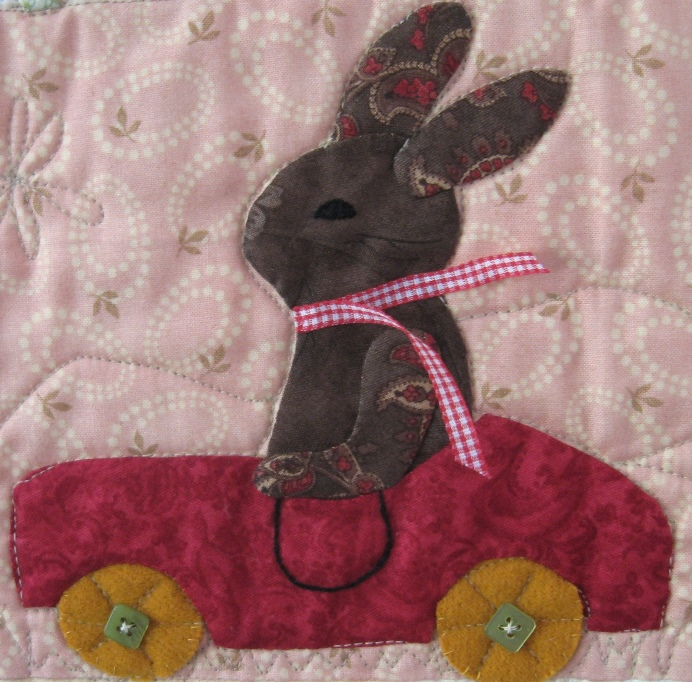 fun bunny appliqué sewing