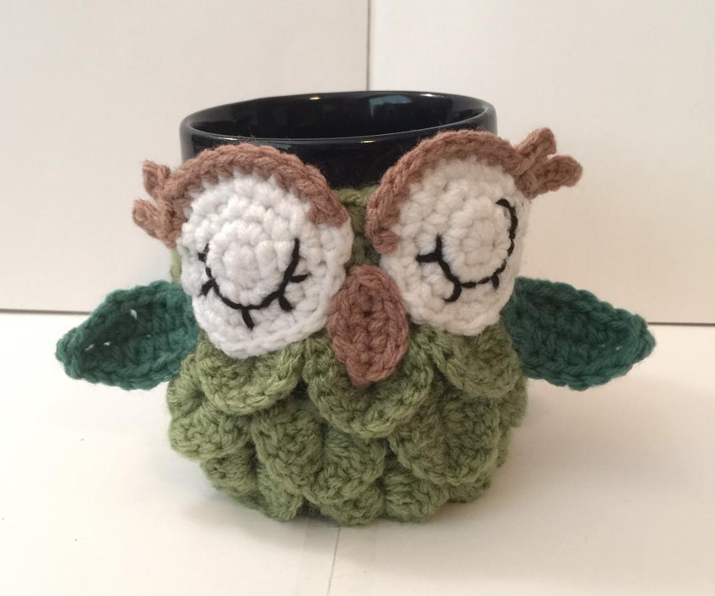 owl crochet mug cozy