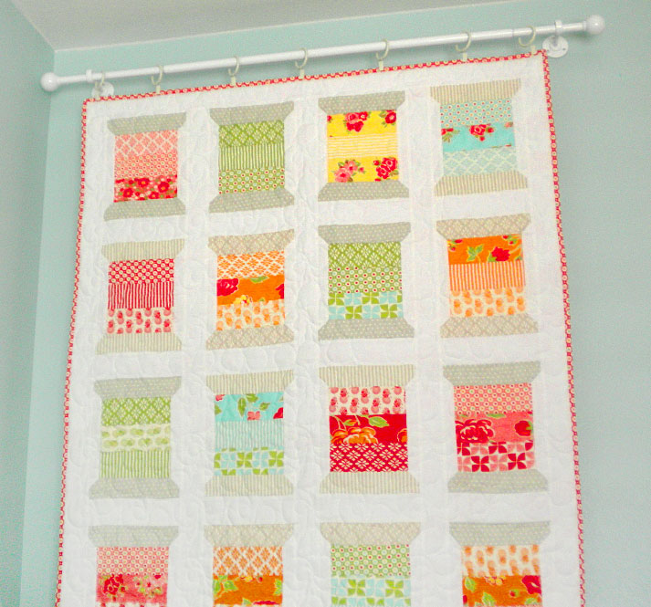 Quilt Hanging on Walls on Tension Rod
