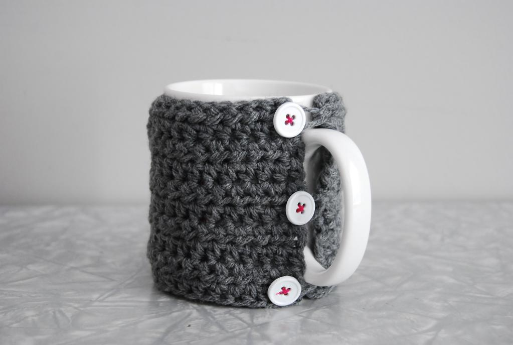 simple crochet mug cozy free pattern