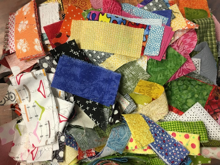 small quilt fabric scraps less than 3 in