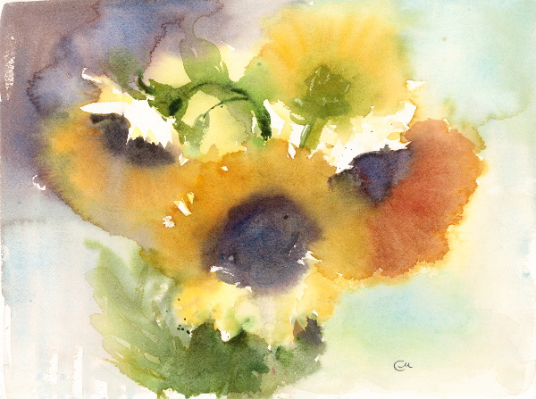 Watercolor Blooms - Flowers