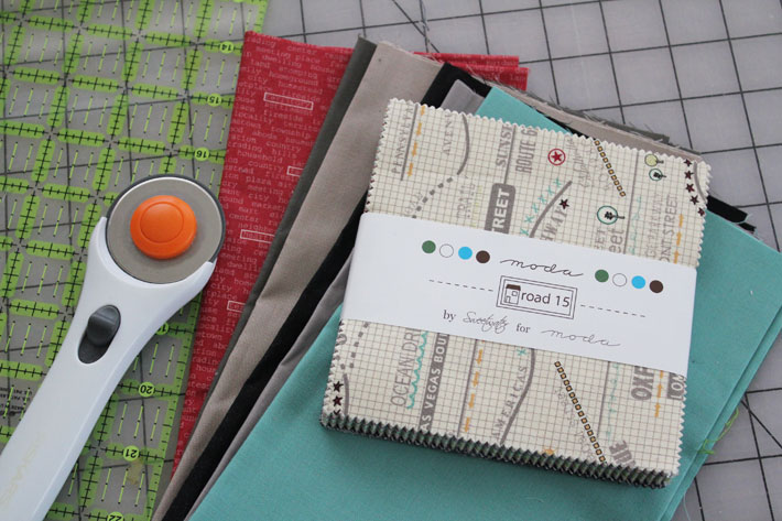 supplies for slashed charms quilt