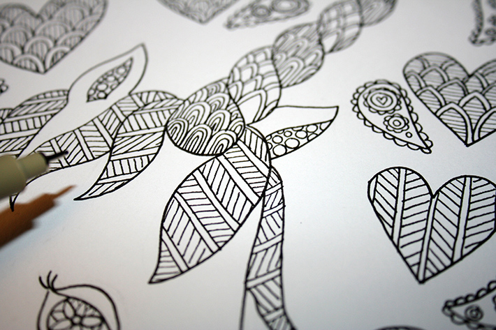How to Draw a Zentangle
