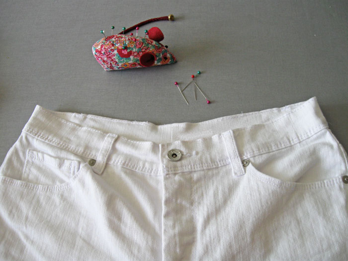 How to Alter Jeans Waistband