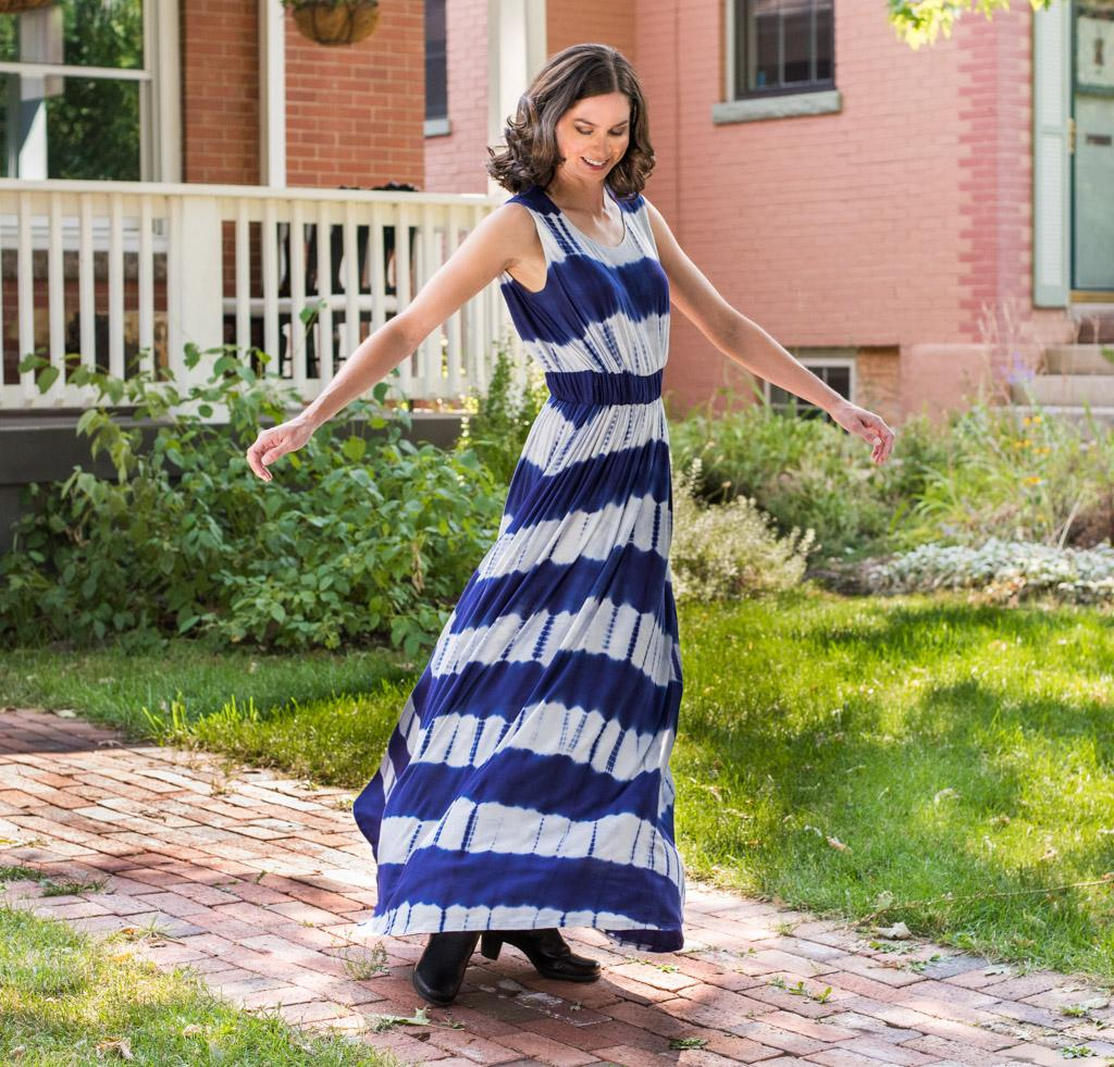 Butterick 6051 Tie-Dye Maxi Dress Kit