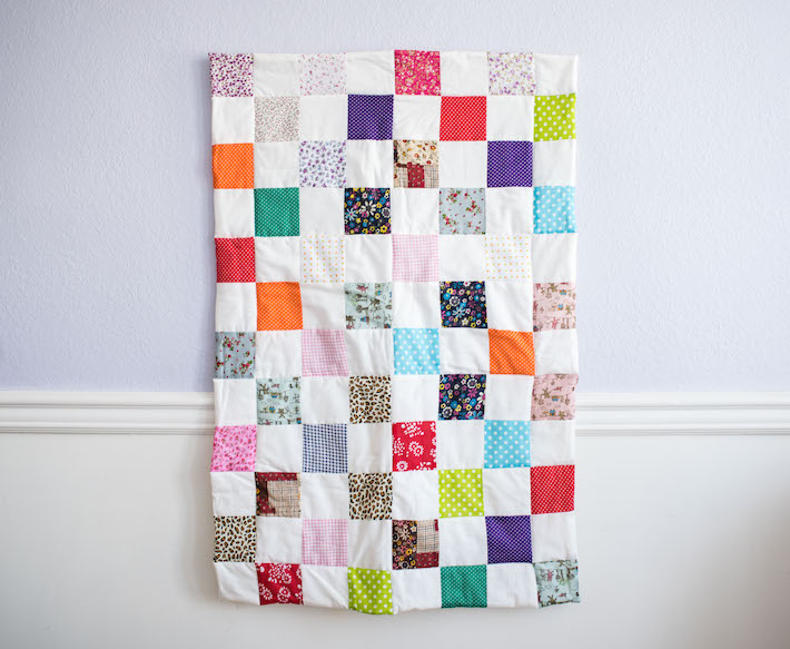Colorful Quilted Baby Blanket