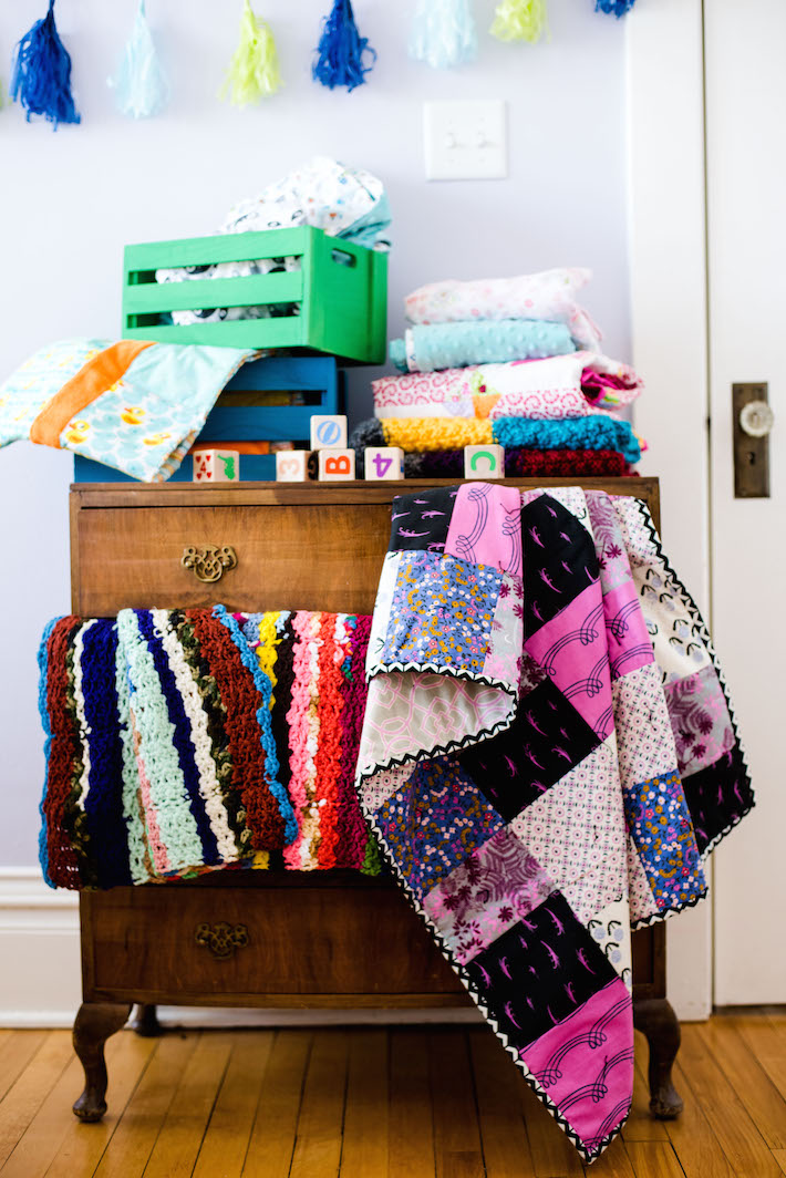 Stack of Blankets to Donate