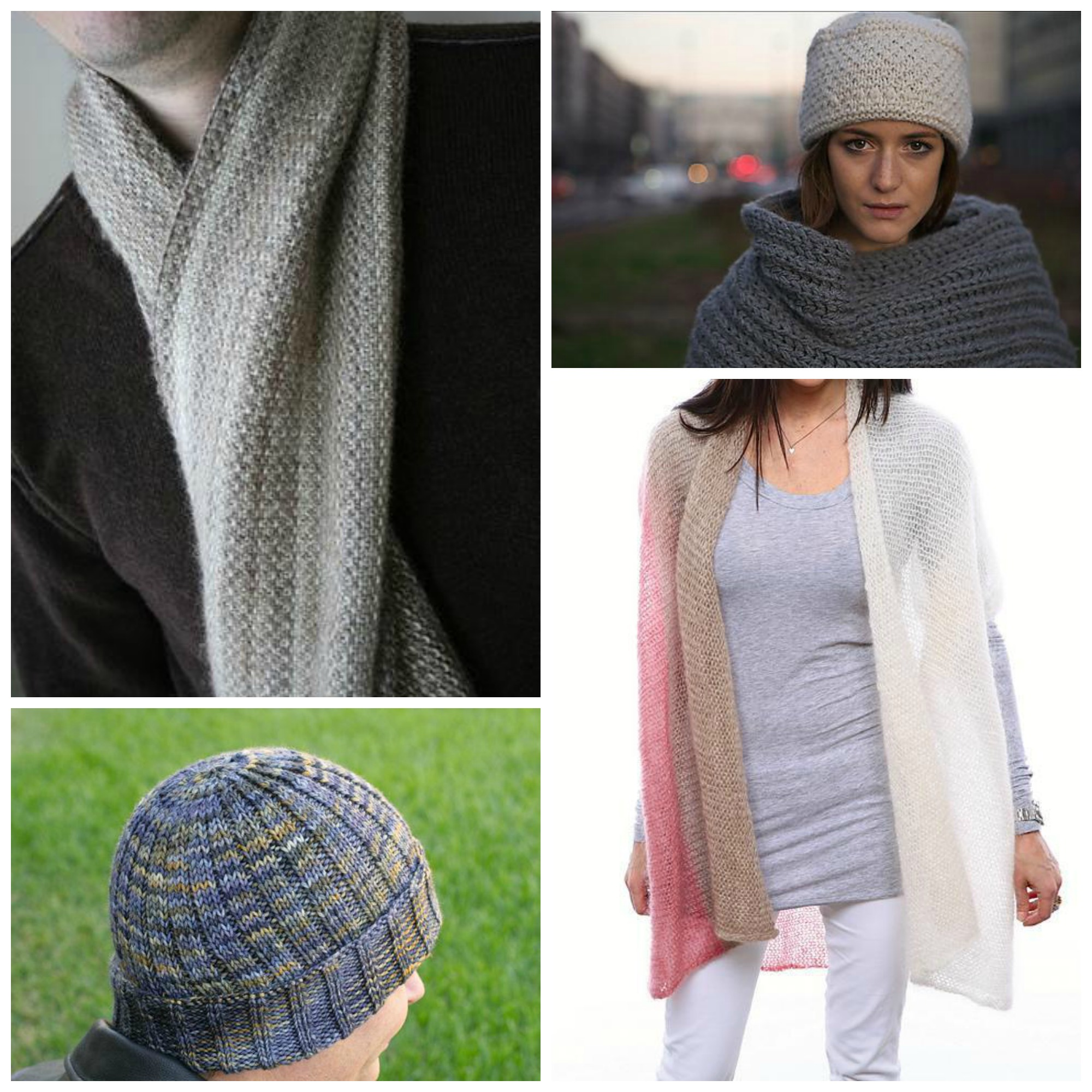 Easy Knitting Patterns Collage