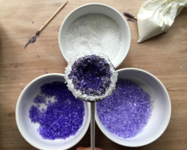 press into clear sparkling sugar