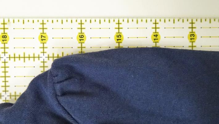Measure the sample sleeve length