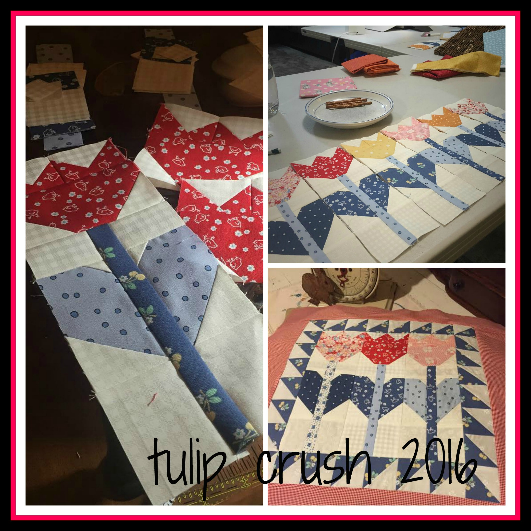 Tulip Crush Quilt Collage