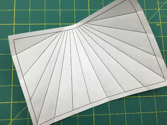 Prefolding the paper pattern