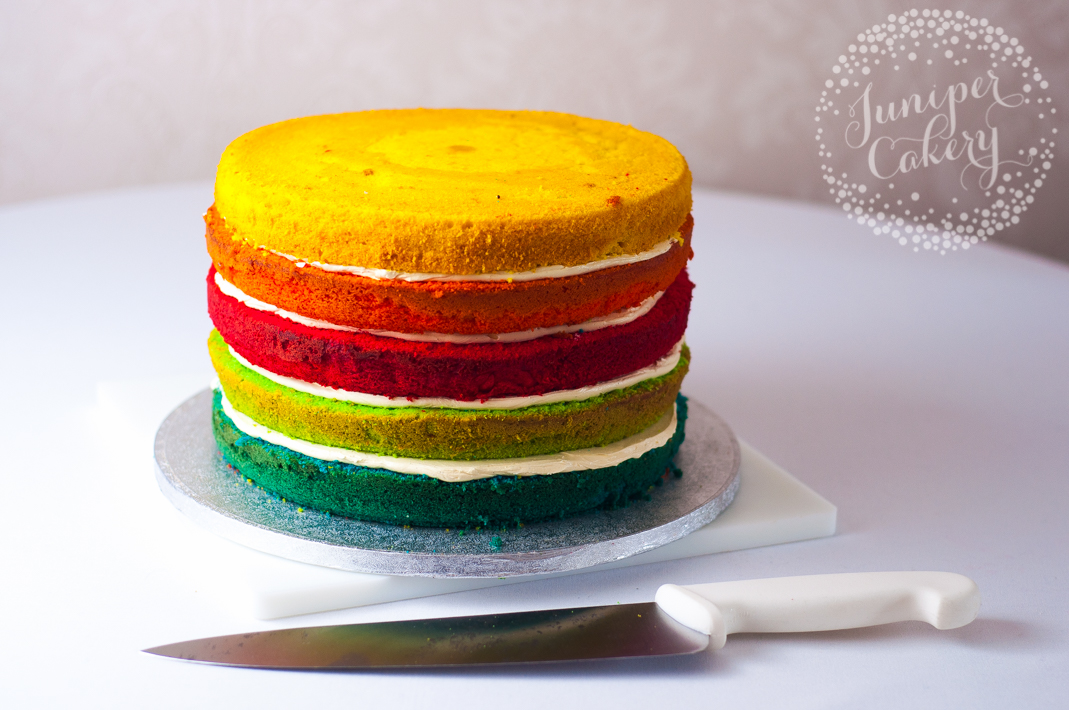 How to create a rainbow layer cake