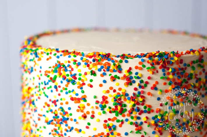 Tips for making a rainbow layer cake