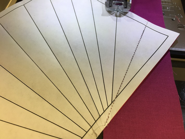 Repeat sewing each strip