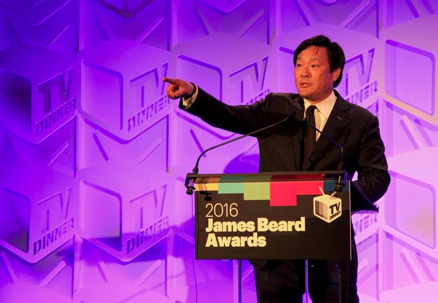 Ming Tsai presenting at the 2016 James Beard Awards