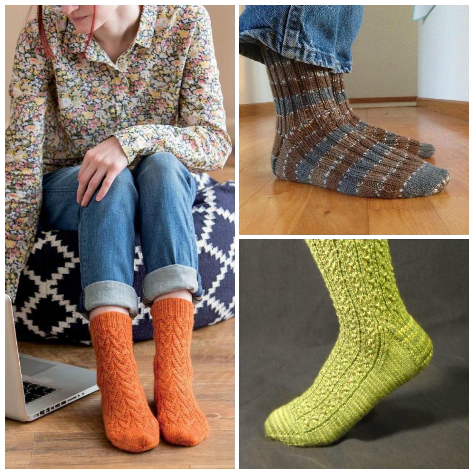 Knit Socks Collage