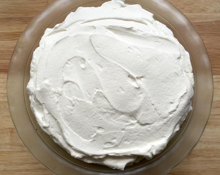 spread whipped cream