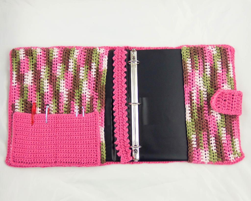 crochet binder cover
