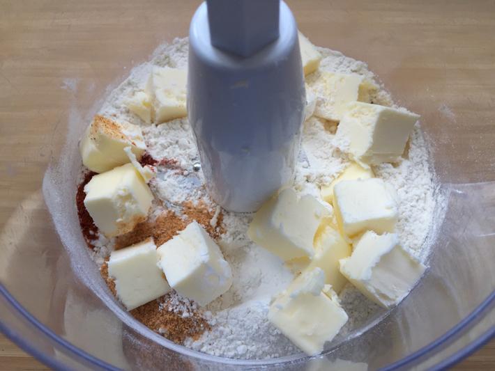add butter to flour mixture