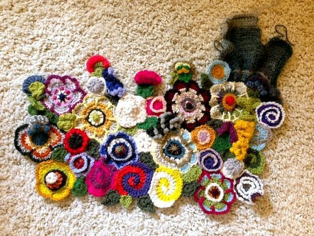 freeform flower garden