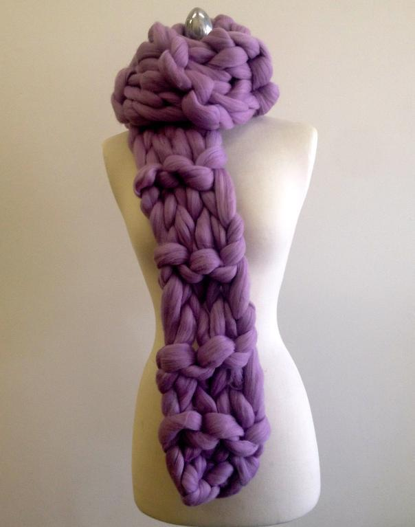 20-Minute Chunky Scarf Knitting Pattern