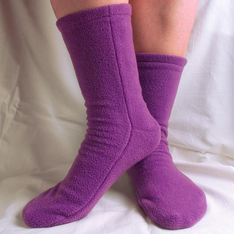 Fleece Socks Sewing Pattern