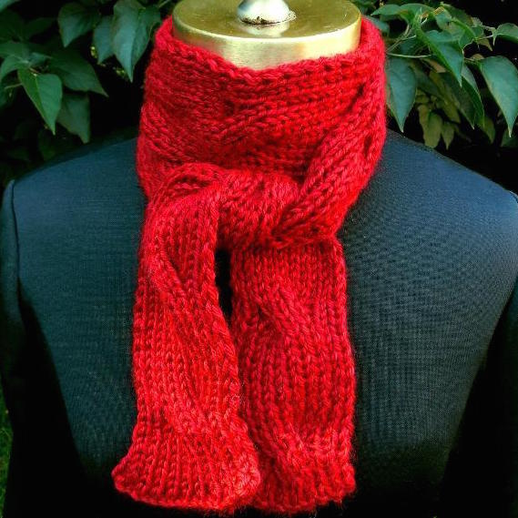 Elegant Reversible Cable Scarf