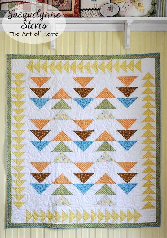 Peaceful Pastimes Flying Geese Quilt