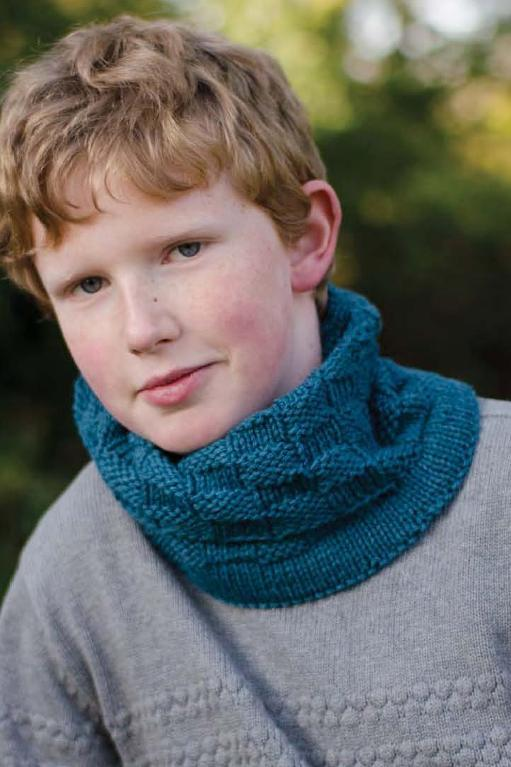 Checkers Moebius Cowl Knitting Pattern