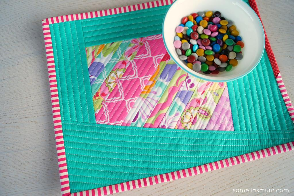 Wonky + Scrappy Quilted Placemat