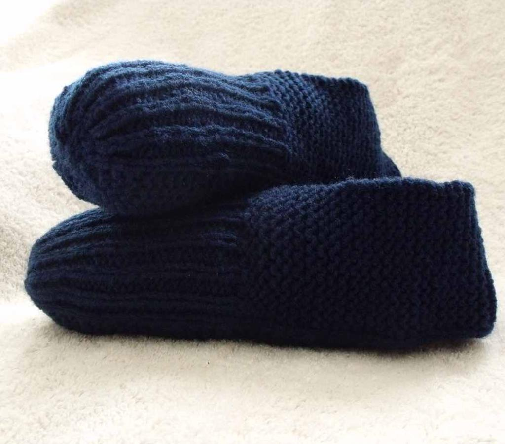 Free Slipper Knitting Pattern