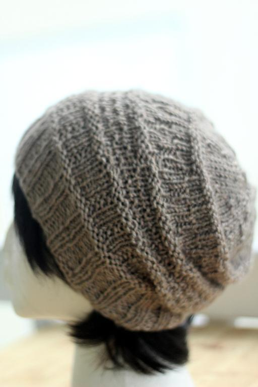 Violet Beanie FREE Knitting Pattern