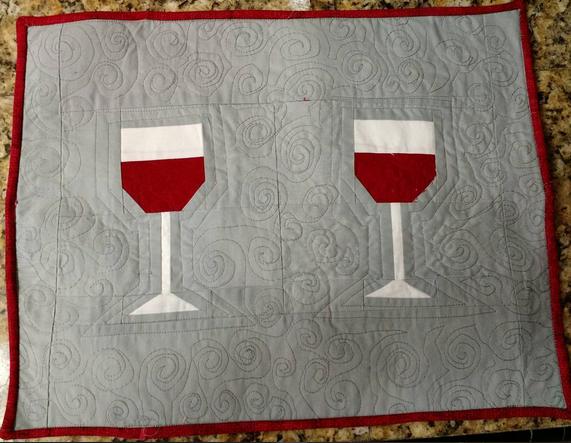 Paper Pieced Wine Glass