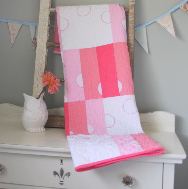 Ombre baby dots quilt pattern