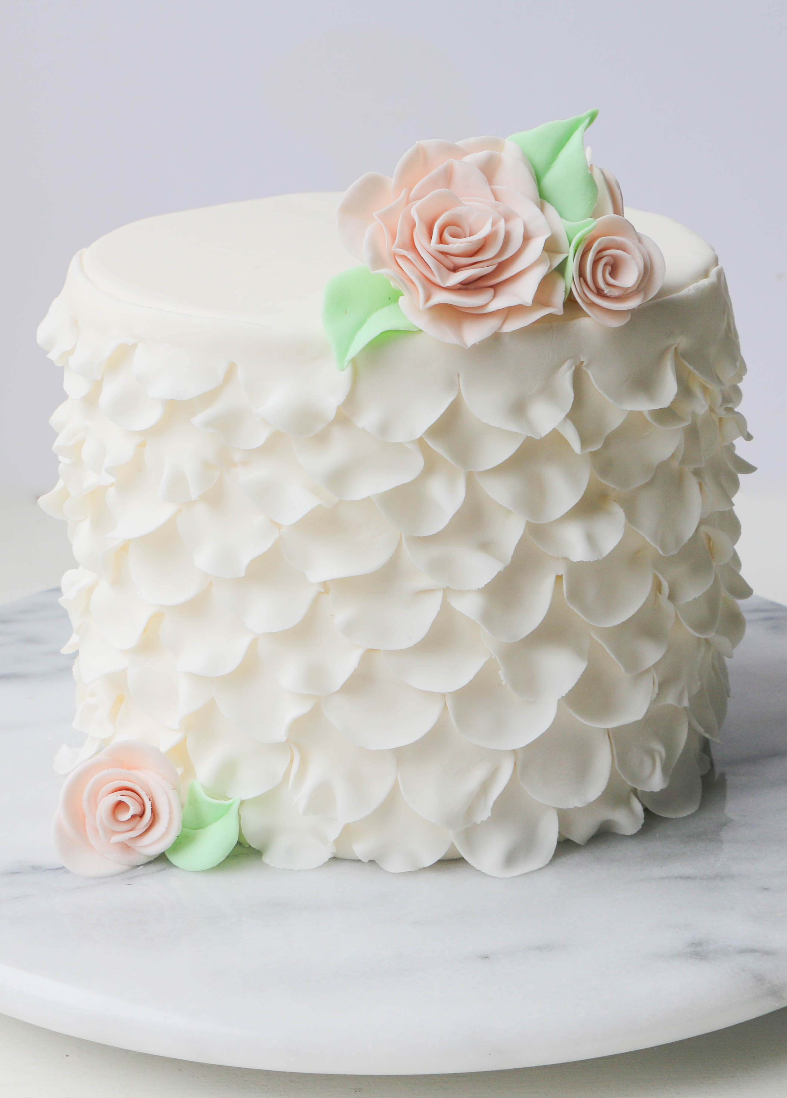 Finished Ruffles and Roses Cake | Erin Gardner | Craftsy