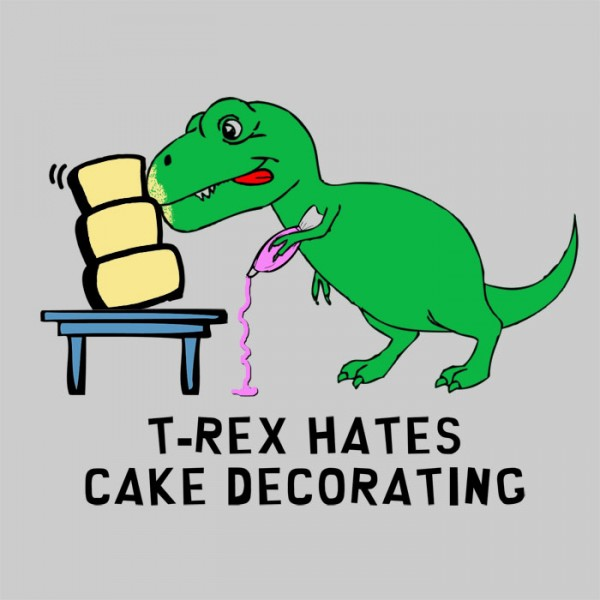 T-Rex Hates Cake Decorating Shirt