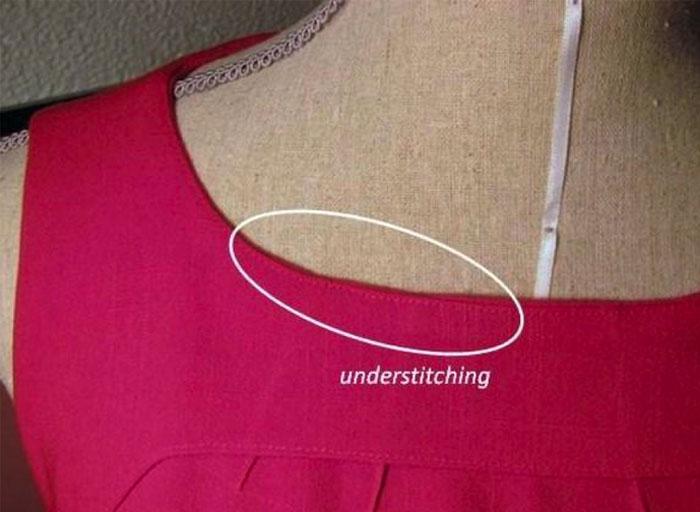 under stitching on neckline