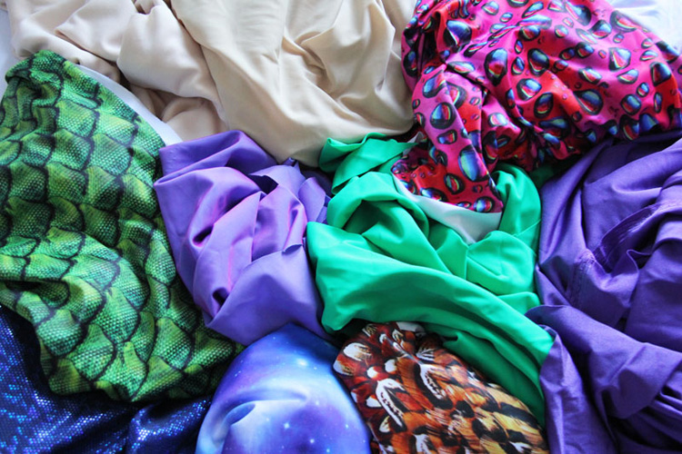 variety of swimsuit fabric