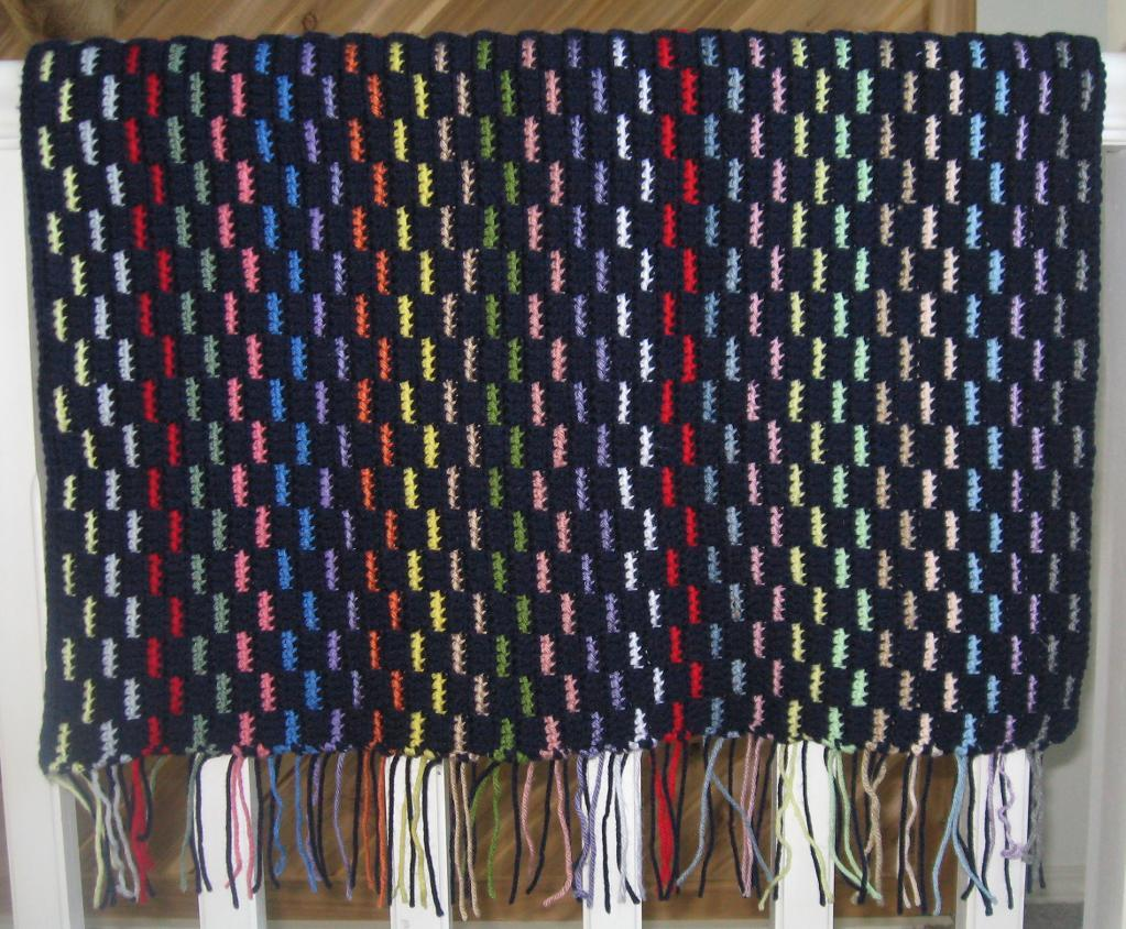 woven blanket crochet