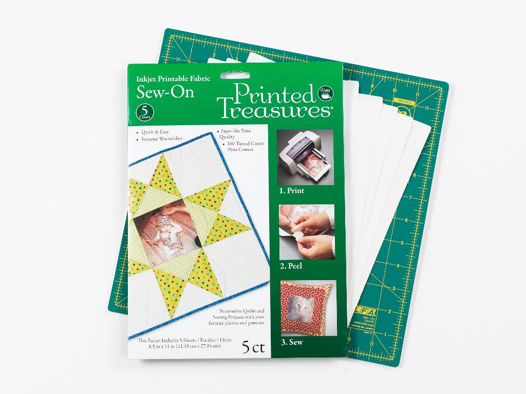 Dritz Printed Treasures Printer Fabric Sheets