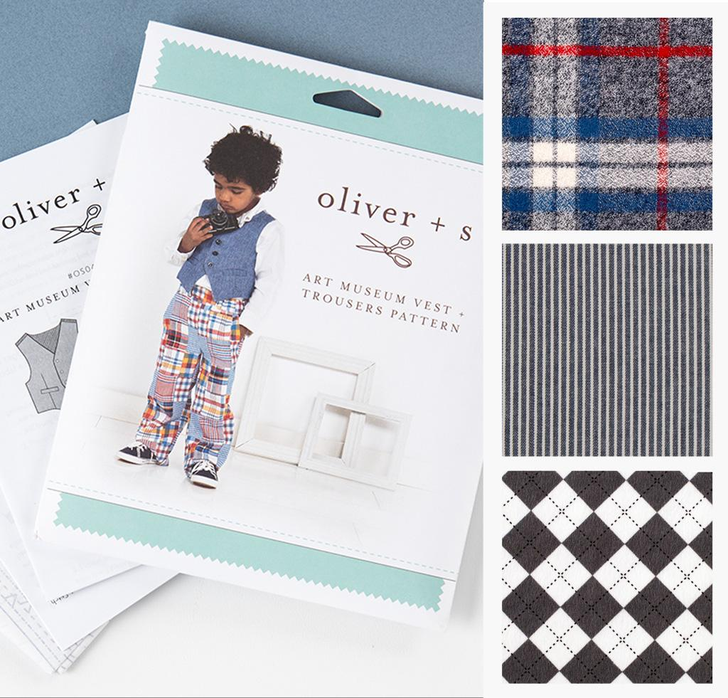 Oliver + S Art Museum Vest -Trousers Sewing Kit