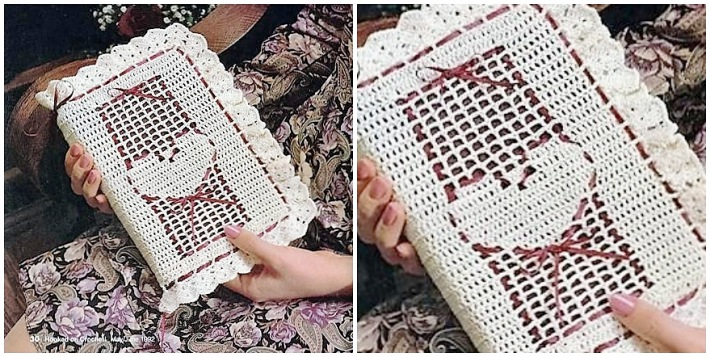 Crochet book cover Sweetheart bible cover